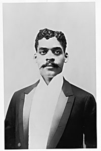 The scholar Arturo Schomburg.