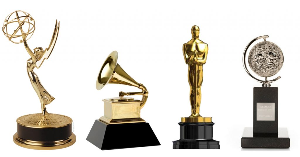 The four awards.