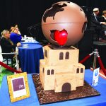 Global health was the theme of the cake prepared by CHOCnyc.