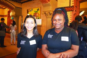 """It's really opened my mind up,"" says sixth grader Daniela Droz (left), with Zsanay Anderson."