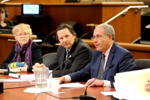 Higher education officials testified in Albany.
