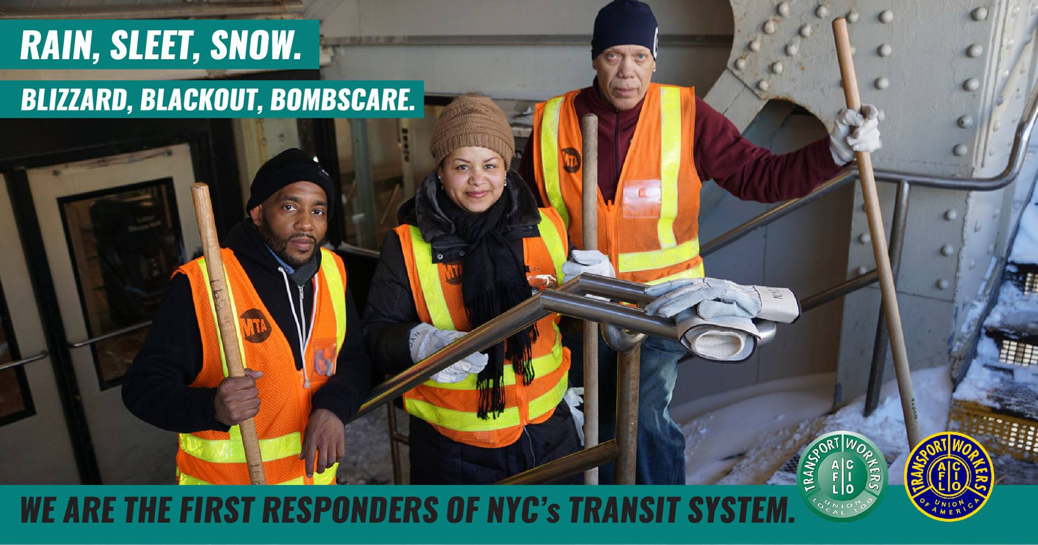 The union represents approximately 38,000 MTA employees.