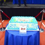 The fifth cake, representing the entire CUMC campus, was made by Carrot Top Pastries.