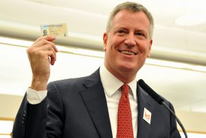 Mayor Bill de Blasio is a proud cardholder.