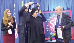 The justice was recognized with an honorary degree.