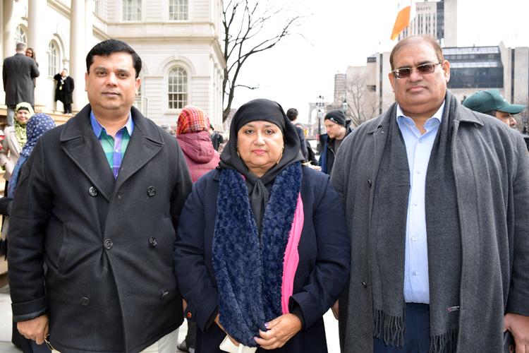 """""""We need to unite more,"""" said Aisha Ahmed (center)."""