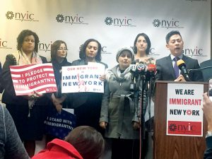 """This is the opening salvo,"" said NYIC Executive Director Steven Choi (far right)."