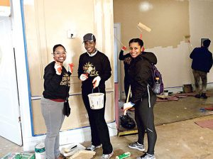 Volunteers pitched in on Martin Luther King Day.