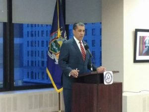 """This is not business as usual,"" said Congressman Adriano Espaillat."