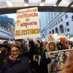 The strike follows the march in January. Photo: C. Vivar