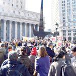 Hundreds gathered at Foley Square.