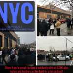 Workers walked the picket line across New York and New Jersey.