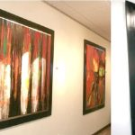 The paintings.