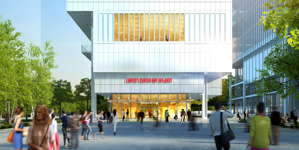 The Lenfest Center of the Arts is slated to open on April 22nd. Photo: Columbia University