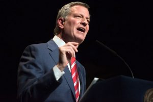 """The ban is a direct reflection of the President's misguided ideas,"" said Mayor Bill de Blasio. Photo: Michael Appleton"