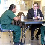 Cuomo visited with incarcerated youth in 2015.