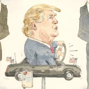 Cartooning the new reality. Artist: Barry Blitt, The New Yorker.