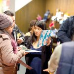 """""""We strive to give communities access to great books,"""" said Veronica Liu (center)."""