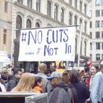The rally was held by Federal Plaza.