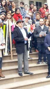 """""""We can, should, and have been there for each other,"""" said Rabbi José Rolando Matalón."""