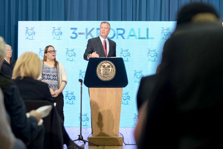 """The clock is ticking,"" said Mayor Bill de Blasio."
