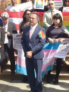 """Transgender rights are human rights,"" stated Guillermo Chacón."