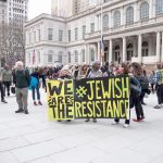 The group rallied at City Hall. Photo: JFREJ