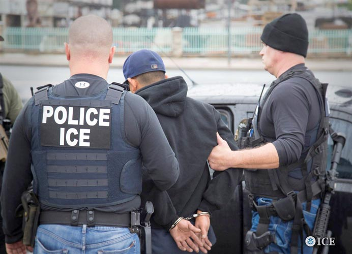 Immigration and Customs Enforcement (ICE) officers.