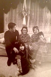 An early photo of the Viñas family in New York City.