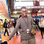 Student Showcase winner Mohammed Ajao from the Manhattan Center for Science and Mathematics.