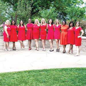The Association's 2017 National GoRed Spokeswomen.