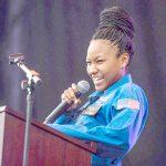Aspiring astronaut Taylor Richardson.