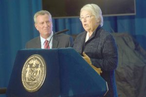 """""""A three-year-old is a sponge,"""" remarked Schools Chancellor Carmen Fariña."""