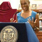 """[His] voice sails forth with poetry and protest,"" said First Lady Chirlane McCray."