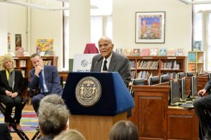 """This library did much to shape my life,"" said artist and activist Harry Belafonte."