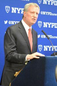 """It helps to encourage trust,"" said Mayor Bill de Blasio."