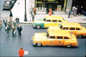 Is the yellow cab the ride of the past?