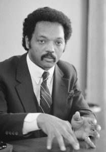 Reverend Jesse Jackson was an early influence.