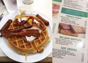 The breakfast fare was popular.