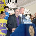 """""""When we fight, we win,"""" said 32BJ President Hector Figueroa."""