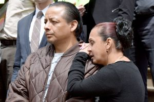 """""""This is cruel and unfair,"""" said Christian Yarleque, with his wife."""