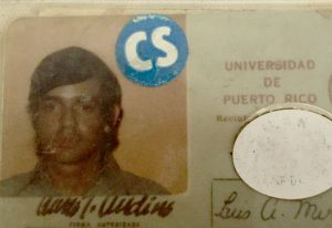 The author's student i.d. card from the University of Puerto Rico.