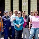 """""""This is important,"""" said State Senator Marisol Alcántara (center, with residents)."""