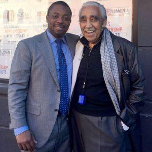 With former Congressman Charles Rangel.