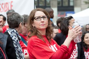 Success CEO Eva Moskowitz at a charter rally.