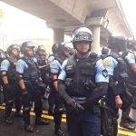 Police gather in San Juan.