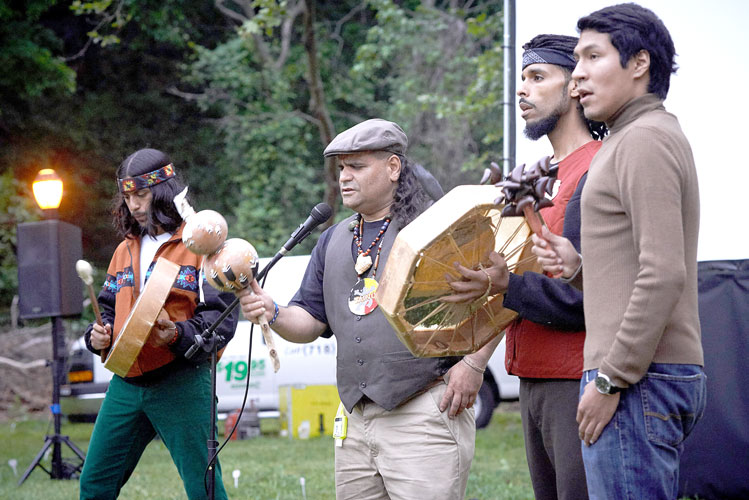 Members of the Band of Tainos performed.
