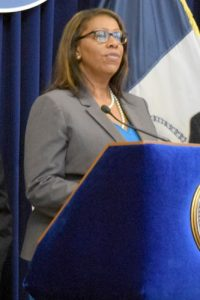 """Today, we are taking a large step forward,"" said Public Advocate Letitia James."