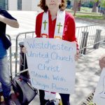 """It's a message of fear,"" said Rev. Jean Walsh, of the Westchester United Church of Christ."