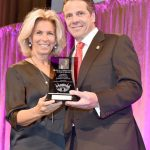 The Chief Judge of New York State, Janet DiFiore, with Governor Andrew Cuomo in April 2015.